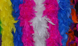 Free shipping Wholesale 20pcs 200cm pcs Feather Boas 40gram Chandelle Feather Boas Marabou Feather Boa for decor