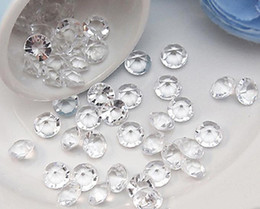 Wholesale 500PCS set mm CT CLEAR Faux Acrylic Diamond Confetti Wedding Party Table Scatter Wedding Favor Decoration Supplies