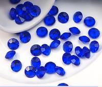 Wholesale Super Sale set mm CT ROYAL DARK BLUE Faux Acrylic Diamond Confetti Wedding Party Table Scatter Wedding Favor Decoration Supplies