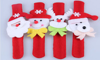 Wholesale Christmas Ornament Led Flashing Santa Bracelet Ring for Kids Toys Christmas Decorations Supplies Beautiful for Xmas hot selling dropship
