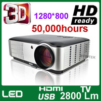 Wholesale Top Rank Home Theater Full HD P x800 D Cinema lumens Video HDMI USB TV LCD LED Projector