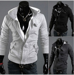 Wholesale Cheap Fashion High Collar Men s outerwear Men s Dust Hoodies Clothes outerwear hoodies sweatshirts ML XL XXL XXXL