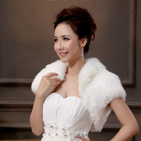 Wholesale 2015 Hot Sales Vitality Pearl Ivory Fur Autumn season Warm Wrap Wedding Brides Soft Shawl Jacketst