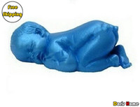 Wholesale sleeping baby chocolate silicone mold cake decorating fondant tool