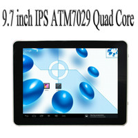 Wholesale 9 inch Android Tablet PC Quad Core GHz Actions ATM7029 Dual Camera IPS Capacitive Multi touch Screen tablets with WIFI HDMI OTG MID