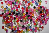 Crystal beads bicone - 1900pcs mm Mixed Color Bicone Faceted ABSl Loose Beads Colors