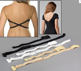 Wholesale Low Back Bra Strap Converter Backless V Conversion Solution Bra Extender sets black white beige in box