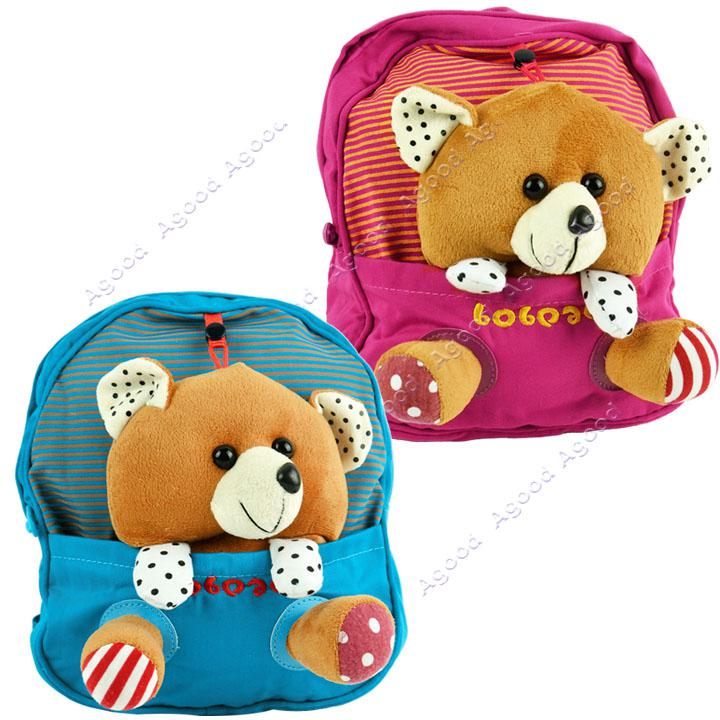 Cute Baby Child Kid Canvas Backpack Little Bear Design Schoolbag ...