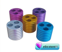 Wholesale New arrival Metal ego stand ego holder e cig metal base ego ecig ashtray Vape Tray ego dock waitingyou