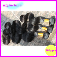 "Body Wave Mongolian Hair human hair Mongolian virgin hair body wave 3pcs lot Natural color 100g pcs unprocessed hair UPS free shipping 8""-26"" length can be dyed and bleached"