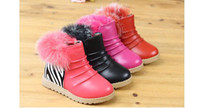 Winter   2013 new children's shoes really rabbit PU leather baby girls at the bottom of the cotton shoes eleusine indica ugg boots boots 21-30