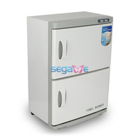 Cheap Lowest Price US Ship Dual Cabinet Hot Towel Warmer Disinfection UV Sterilizer Machine 46L HOME SPA