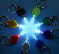 chain hooks - LJ LED Carabiner Torch Clip Keychain LED Camping Lamp Hiking Hook Key Chain Flash light