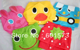 Wholesale hot Boy s Girls Rain cape Waterproof Coats Children s Animal Model Raincoat Kids Rain Coat EMS FREE TO AUS