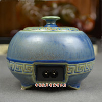 Wholesale Split electronic incense furnace blue ceramic thermostat electric aromatherapy furnace electronic incense burner sandalwood oil