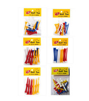 Wholesale packs top quality Golf Tees with different colors and size mix order