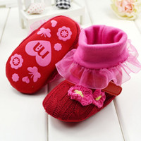 Wholesale Christmas Gift Girl Baby Boots Baby warm shoes home soft sole infant winter boots with High Quality pairs