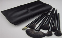 eyebrow shadow - 32 Cosmetic Natural Leather Professional Eyebrow Shadow Makeup Brush Set Best Price