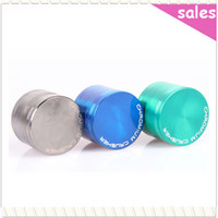 Wholesale Metal Alloy Herb Tobacco layered Grinder Cigar Spice Crusher Cigarette Rolling Machine Magnet Strainer Inside