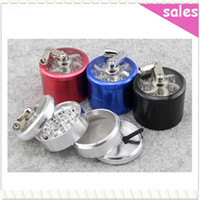Wholesale Metal Alloy Hand Crank Herb Tobacco layered Grinder Cigar Spice Crusher Cigarette Rolling Machine
