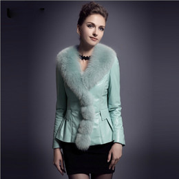 Wholesale New Arrival Luxury Real Natural Fox Fur Sheepskin Ruffles Fur Coats