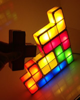 Angel lamp supplies - Fashion Tetris Stackable LED Desk Lamp Tetris Lamp Party supplies