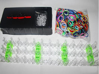 Wholesale Fashion pretty underselling Rainbow Loom Rubber Bands Rubber band bracelets Colorful Silicone BANDS Bands S Clips mixed colors hook
