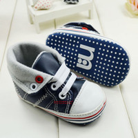 Wholesale fashion high tops leather shoes first walkers for baby boys infant boys shoes pairs seek for