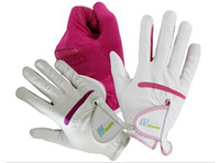Wholesale 50 pairs women s adjustable skidproof golf gloves with velcro various of colors and size mix order