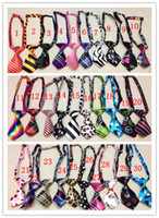 Wholesale 30pcs Adjustable Pet Dog Cat Handmade Bow Tie Necktie Neck Collar Cute gift patterns for choose