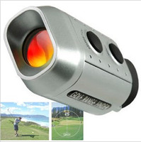 Wholesale digital x multifunction Golf Scope Golf range finder with leather case max range yards retail packaging