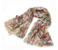 Wholesale 2013 new scarvesB637 choking mouth peppers retro totem bohemian Paris OK Scarf Scarf scarves