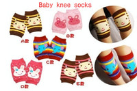 Wholesale Knee Pads Toddler Cotton Cartoon Animal Pattern Girls Boys Babys Socks Short Kneepad Crawling Protector BB133