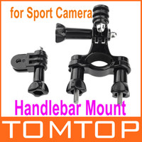 Wholesale Bicycle Bike Handlebar Seatpost Pole Mount Stand With Three way Pivot Arm for Sport Camera Gopro HD Hero D920