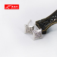 Man Yi Xuan genuine diamond earrings - Man Yi Xuan genuine diamond earrings S925 silver jewelry gift girlfriend romantic