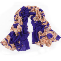 Wholesale 2013 new scarvesB594 fashion new wild leopard print scarf long scarf shawls