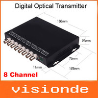 Wholesale 8 Channel Video Data Fiber Media Converter Digital Optical Transmitter and Receiver System For CCTV Security DHL