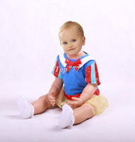 Wholesale Christmas gift RAdorable baby girls suit Two piece baby suit bowknot headband Snow White baby romper Fashion design