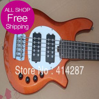 Wholesale New Arrival Guitar Factory High Quality Music Man Bongo Orange Strings Active Pickups Bass Guitar