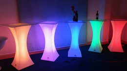 Wholesale Creative Led furniture RGB color Cocktail table waterproof Reception table romantic wedding party bar supply set