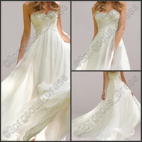 Hot Sale Beautiful Sweetheart Beach Garden Wedding Dresses W...
