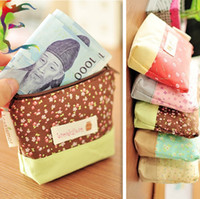 Could mix color Cartoon Canvas Wholesale 20pcs lot Zakka wispy floral zipper Coin purses 5 Color Linen fabric phone MP3 tool storage holder case pouch bag