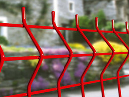 Wholesale PVC Coated Appearnace Treatment Curved Wire Mesh Fence Opening mm