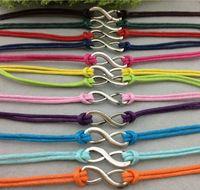 achat en gros de amitié réglable-Coréen Cashmere Infinity bracelet Eternity Amour Bracelet en cuir Amitié réglable Chaîne souhaitée bracelets hy1012