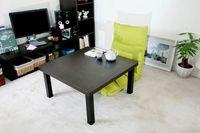 Wholesale japanese style furniture Home Living Room KOTATSU Foot Warmer Table black color square cm kotatsu table