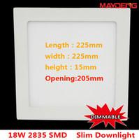 Yes 85-265V 2835 MAYDENG Best Seller Square 18W Dimmable LED Panel Light 2835SMD 1610LM AC85-265V 10PCS LOT 2 Years Warranty