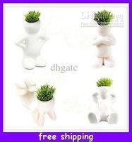 Wholesale Creative Hair man Bonsai Grass Doll Offices Mini Plant Fantastic Homes Decor pot seeds