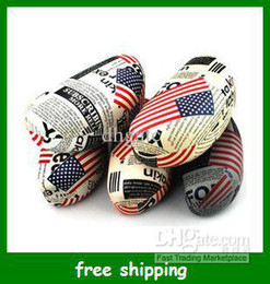 Wholesale Hot American flag sunglasses box Portable leather glasses case bag women Xmas gifts
