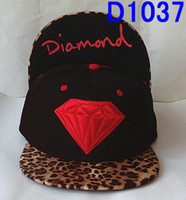 Wholesale Black Leopard Diamond hats strapbacks hip hop Mens Sports Hats Blank cap snapbacks Panel caps New Design Men Hat Discount