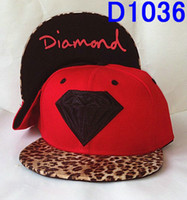 Wholesale Caps Red Leopard Diamond hats hip hop Snapback Hats Mens Sports Hats Blank cap snapbacks Panel caps Men Hat High Quality